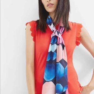 Ted Baker mosaic print skinny scarf